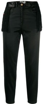 Moschino Pre Owned Fringed Cropped Trousers