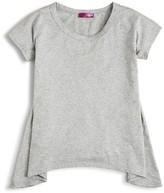 Aqua Girls' Solid Knit Sharkbite Tee - Sizes S-XL