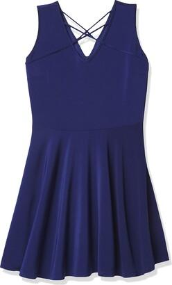 Lark & Ro Women's Sleeveless Cross Front V-Neck Dress