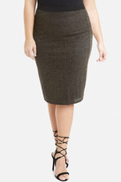 Fashion to Figure Zora Metallic Ribbed Pencil Skirt