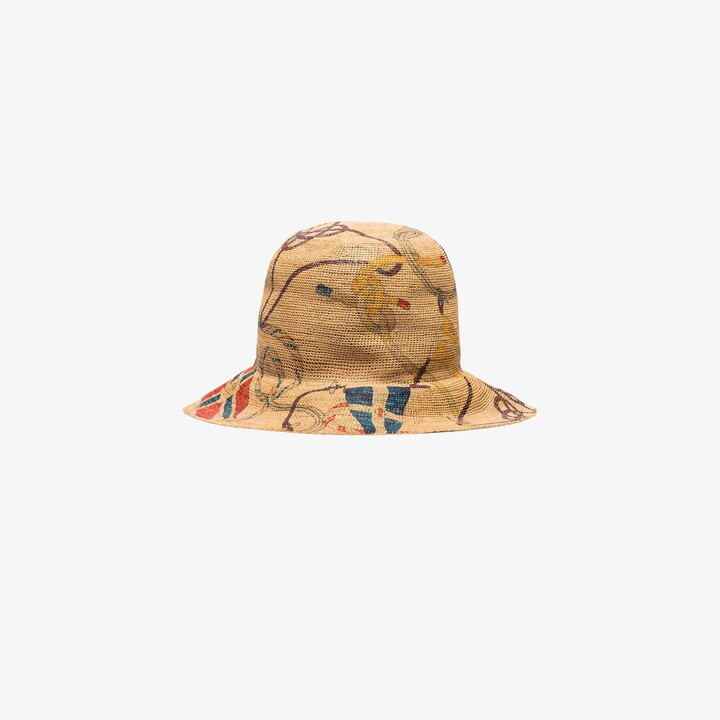 Etro neutral Saint Tropez raffia hat