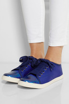 Lanvin Canvas and patent-leather sneakers