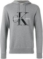 Calvin Klein Jeans logo print hoodie - men - Cotton - L