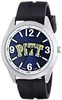 Game Time Men's COL-VAR-PIT Varsity Analog Display Japanese Quartz Black Watch