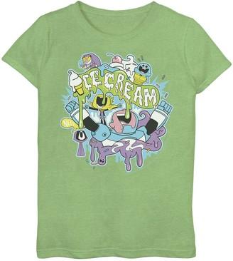 Licensed Character Girls 7-16 DC Comics Teen Titans Go! Ice Cream Drip Tee