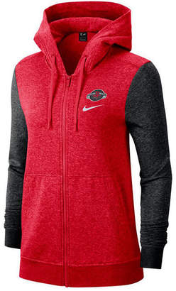 Nike Women Houston Rockets Full-Zip Club Fleece Jacket
