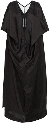 Rick Owens Tulle-paneled Draped Shell Gown