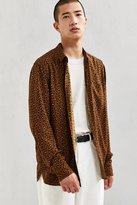 Urban Outfitters Owen Leopard Rayon Button-Down Shirt