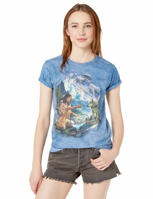 The Mountain Dreams of Wolf Spirit Adult Woman's T-Shirt