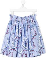 Fendi floral gathered skirt