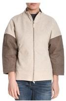 Eleventy Women's Beige/brown Wool Sweatshirt.