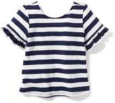 Old Navy Striped Ruffle-Sleeve Tee for Toddler