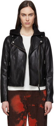 Mackage Black Leather Yoana Jacket