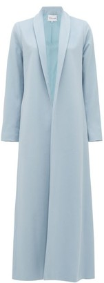 Michelle Waugh - The Chloe Shawl-lapel Cashmere Coat - Light Blue