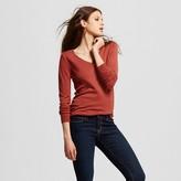 Women's Long Sleeve V-Neck Sweater - Mossimo