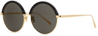 Linda Farrow Luxe 966 C1 Round-frame Sunglasses