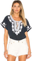 Star Mela Lani Embroidered Top in Navy. - size M (also in )