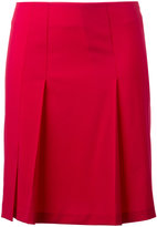 Cacharel pleated detail mini skirt - women - Spandex/Elastane/Virgin Wool - 34