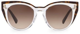 Valentino 50MM Round Shadowed Sunglasses