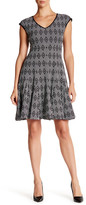 Taylor Novelty Jacquard Multi-Seamed Dress