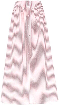 By Any Other Name Striped Midi Skirt