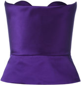 DELPOZO strapless peplum top - women - Silk/Cotton/Acetate/Viscose - 34