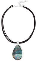 Robert Lee Morris Black Teardrop Stone Pendant Necklace