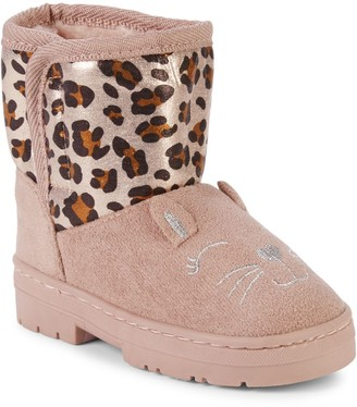 Delia's Girl Baby Girl's & Little Girl's Leopard-Print Faux Fur-Lined Boots
