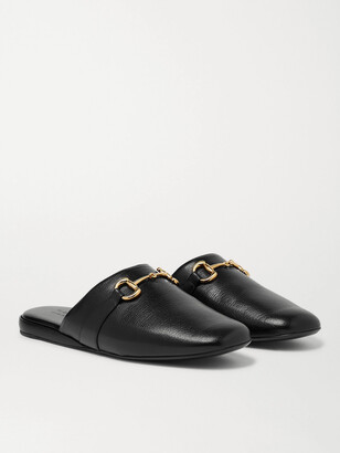 Gucci Pericle Horsebit Leather Slippers - Men
