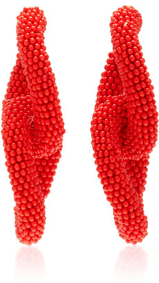 Oscar de la Renta Gold-Tone And Beaded Earrings