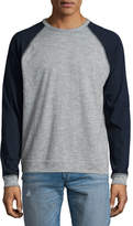 Rag & Bone Standard Issue Colorblock Raglan-Sleeve Baseball Shirt, Gray