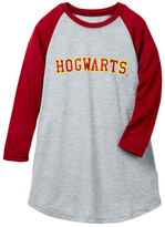 Intimo Harry Potter Hogwarts Long Sleeve Raglan Nightgown (Little Girls & Big Girls)
