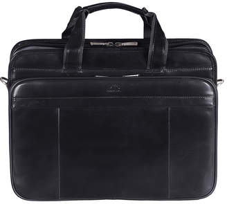 Mancini Signature Collection Large Top Zippered Double Compartment Laptop and Tablet Briefcase