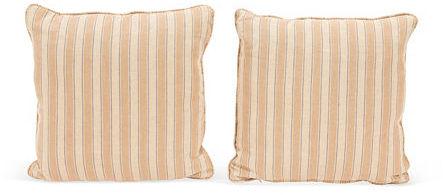 Yellow Stripe Pillows, Pair