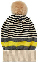 Jigsaw Kilda Stripe Pom Hat, Grey