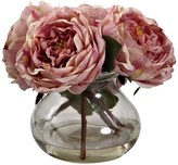 Nearly Natural Pink Fancy Rose with Vase