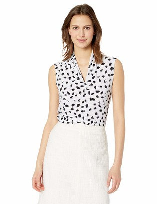 Nine West Women's V-Neck Abstract Animal ITY CAMI
