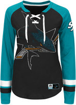 Majestic Women's San Jose Sharks Hip Check Long Sleeve T-Shirt