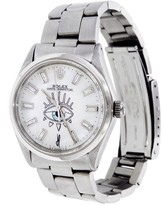 Jacquie Aiche Vintage Rolex Watch with Baguette Diamonds and Mother Of Pearl Eye