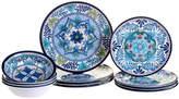 Certified International Talavera Heavy Weight 12 Piece Melamine Dinnerware Set, Service for 4