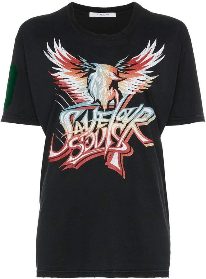 Givenchy band-inspired printed t-shirt