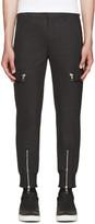 Neil Barrett Grey Wool Cargo Trousers