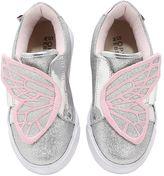 Sophia Webster Bibi Wings Glittered Leather Sneakers