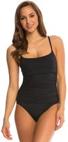 Anne Cole Color Blast Solid Shirred Lingerie One Piece Swimsuit 8137576