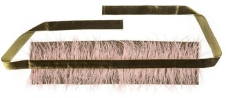 Natori Stretch Twill Belt With Feathers