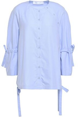 Victoria Victoria Beckham Bow-detailed Cotton Blouse