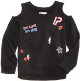 Epic Threads Hero Kids by Cold-Shoulder Patch Sweatshirt, Little Girls (4-6X), Created for Macy's