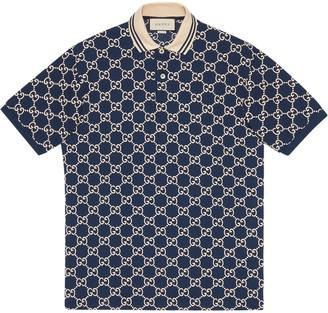 Gucci embroidered GG polo shirt