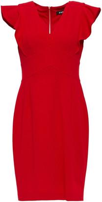 DKNY Ruffled Stretch-crepe Mini Dress