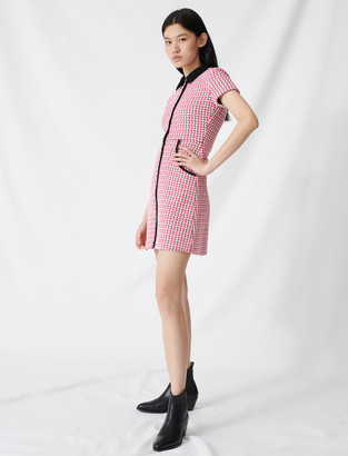 Maje Tweed-style dress, contrasting details